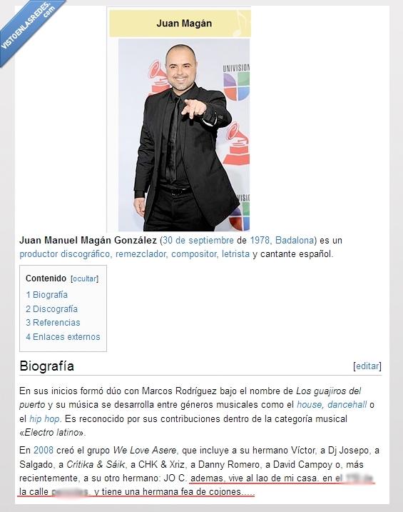fea,hermana,Magán,reggayton,si es fea es fea,Wikipedia's facts