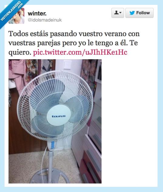 calor,parejas,twitter,ventilador,verano