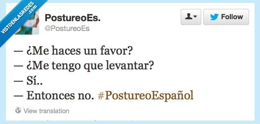 español,favores,hacer,levantarse,no,vago