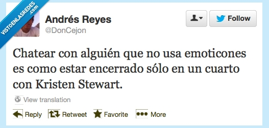 emoticones,encerrado,estar,Kristen,solos,Stewart,twitter