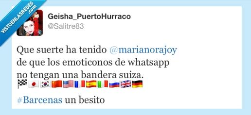 banderas,bárcenas,emoticonos,rajoy,suiza,whatsapp