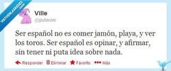 Enlace a El auténtico español por @putauve