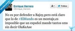 Enlace a Tiene que ser falso por @Enrique_Herrero