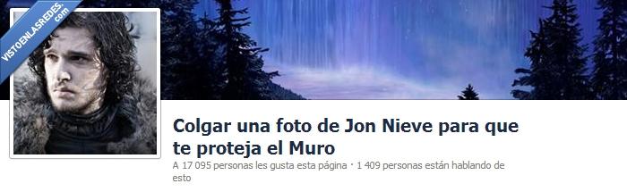 facebook,guardia de la noche,Jon,juego de tronos,muro,nieve,snow