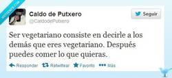 Enlace a Ser vegetariano por @CaldodePutxero