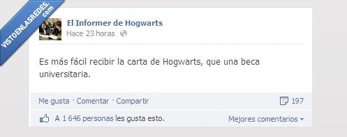carta,fácil. beca,Hogwarts,Informer de Hogwarts,Recibir,Universidad