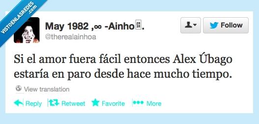 alex ubago,amor,facil,paro