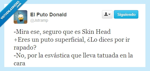 esvastica,nazi,skinhead,superficial,tatuaje