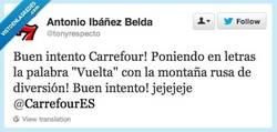 Enlace a Carrefour intentando colárnosla ehhh por @tonyrespeto