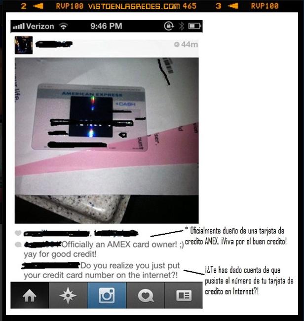 amex,foto,instagram listo,numero,tarjeta credito