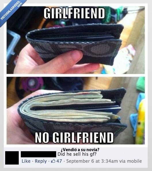 billetes,Cartera,dinero,llena,Novia,soltero,vacía,vender a la novia