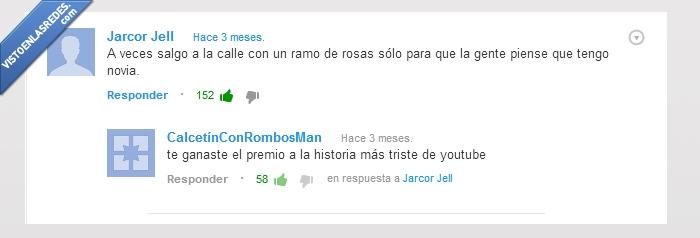 forever alone,novia,premio,rosas,youtube
