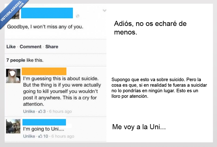 despedida,estado,facebook,suicidio,universidad