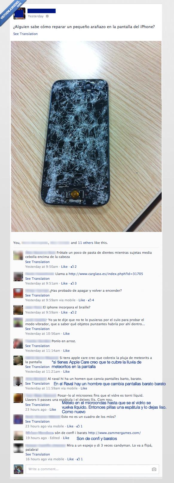 apagar,arroz,chino,comentarios,cualquiera lo arregla,destrozado,encender,iphone,movil,roto