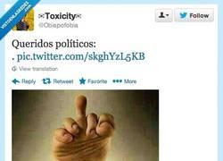 Enlace a ¡Hola políticos, un saludito! por @obispofobia