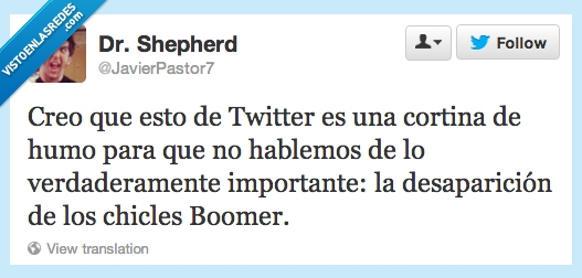 Boomer,chicles,cortina,desaparición,humo,twitter