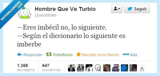 Diccionario,imberbe,siguiente,Twitter