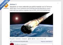 Enlace a ¿Dónde caerá el asteroide?