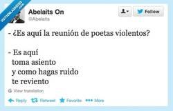 Enlace a Reunión de poetas violentos por @abelaits