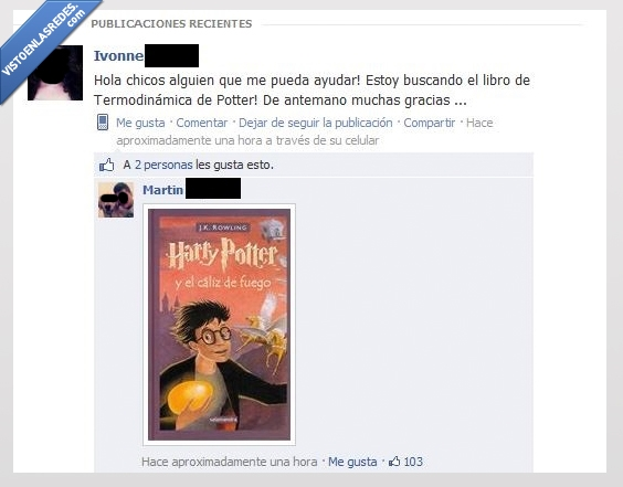 chica,comentario,facebook,gracioso,harry,ingenieros,libro,potter,troll