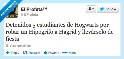 Estudiantes,Hagrid,Harry Potter,Hipogrifos,Hogwarts,Noticias,Robos