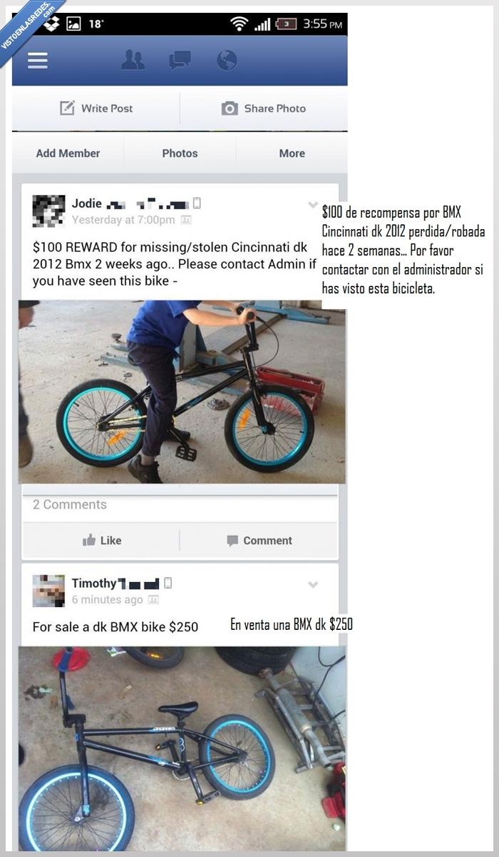 bici,bmx,dinero,ganar,misma,modelo,pedida,recompensa,robar