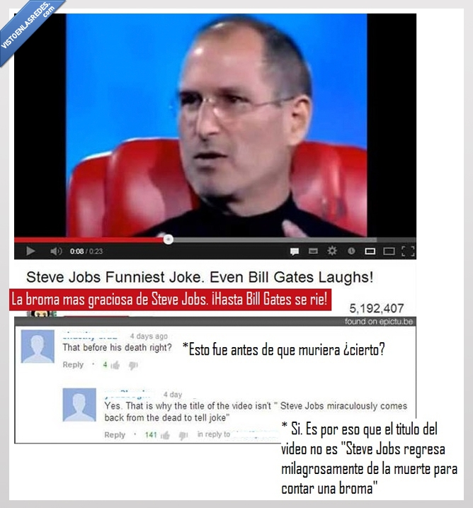 broma,muerto,steve jobs,video,vivo,youtube