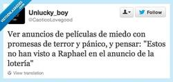 Enlace a No diga miedo, diga Raphael por @CaoticoLovegood