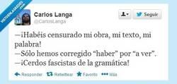 Enlace a Represores de las letras... por @CarlosLanga