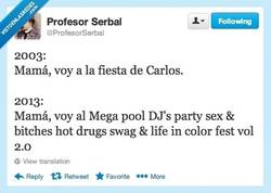 Enlace a No es una fiesta, es... por @ProfesorSerbal