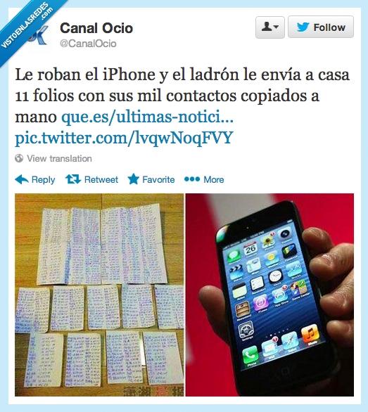 contactos,copian,enviar,escrito,hoja,mano,mil,móvil,roban