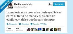 Enlace a ¿Qué es la materia? por @mellamanmulo