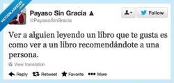 Enlace a Los libros también hacen recomendaciones por @payasosingracia