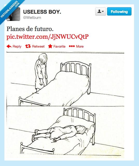 cama,dormir,no hacer nada,tirar,tumbar,twitter,wetburn