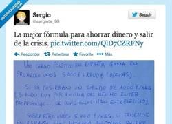 Enlace a La mejor fórmula para salir de la crisis por @sergiete_90