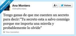 Enlace a Soy la mejor guardando secretos por @iAnaMontero