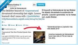 Enlace a Castiel se nos cabrea con las beliebers por @MishaCollins