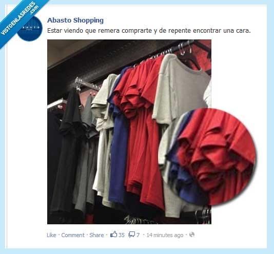 aqui decimos remera,camiseta,cara,remera,ropa,si es una publicacion argentina,y si tengo el facebook en inglés