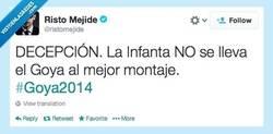 Enlace a Y el Goya es para... por @ristomejide