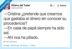 Enlace a La infanta se escaquea por @escupotwits