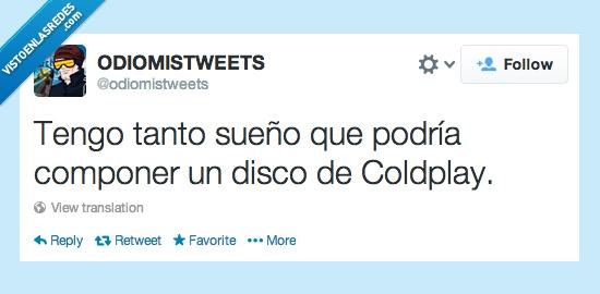 Coldplay,componer,disco,sueño