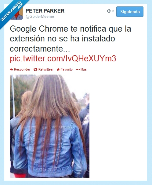 cabello,chrome,correctamente,extensión,falso,google,instalar,no,notifica,pelo