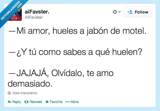 amor,Cuernos,iFavster,jabón,lol,motel,olor,te amo,tweet,twitter