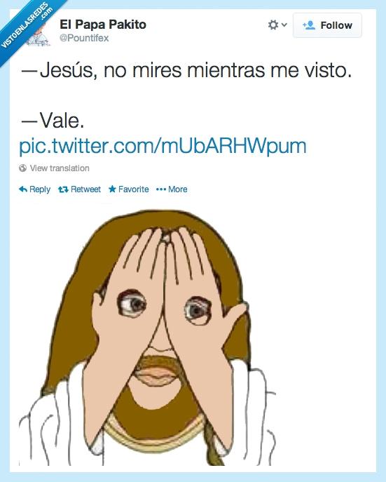 agujero,clavo,cruz,jesus,lol,manos,mirar,ojos,ropa,traves,ver