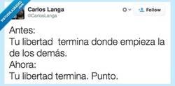 Enlace a Libre, como el sol cuando amanece por @CarlosLanga