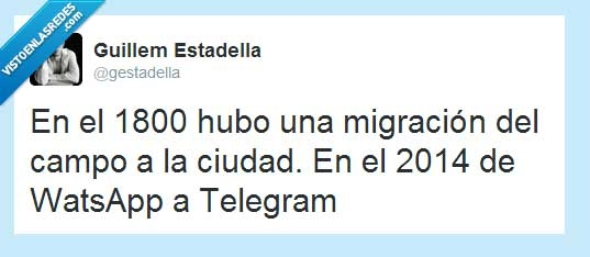 2014,migración,telegram,whatsapp