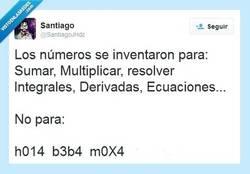 Enlace a Los números se inventaron para algo por @SantiagoJHdz
