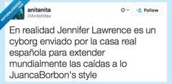 Enlace a Jennifer Lawrence y su caída por@AnitaNitax
