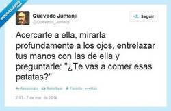 Enlace a No se puede ser tan romántico por @Quevedo_Jumanji
