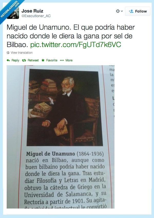 ahí va la hostia Patxi,Bilbao,Miguel de Unamuno,Twitter